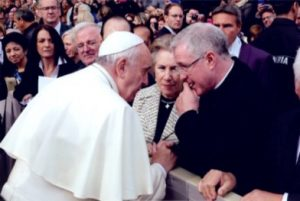Father John meeting Pope Francis
