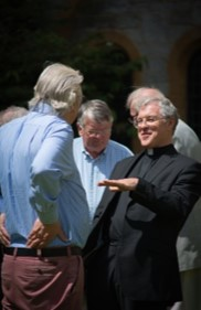 Father John with the Plymouth Clergy Retreat Group